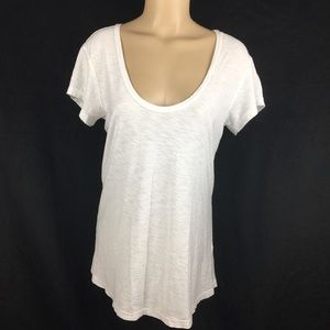 James Perse White Light Weight Cotton Tee 2 M